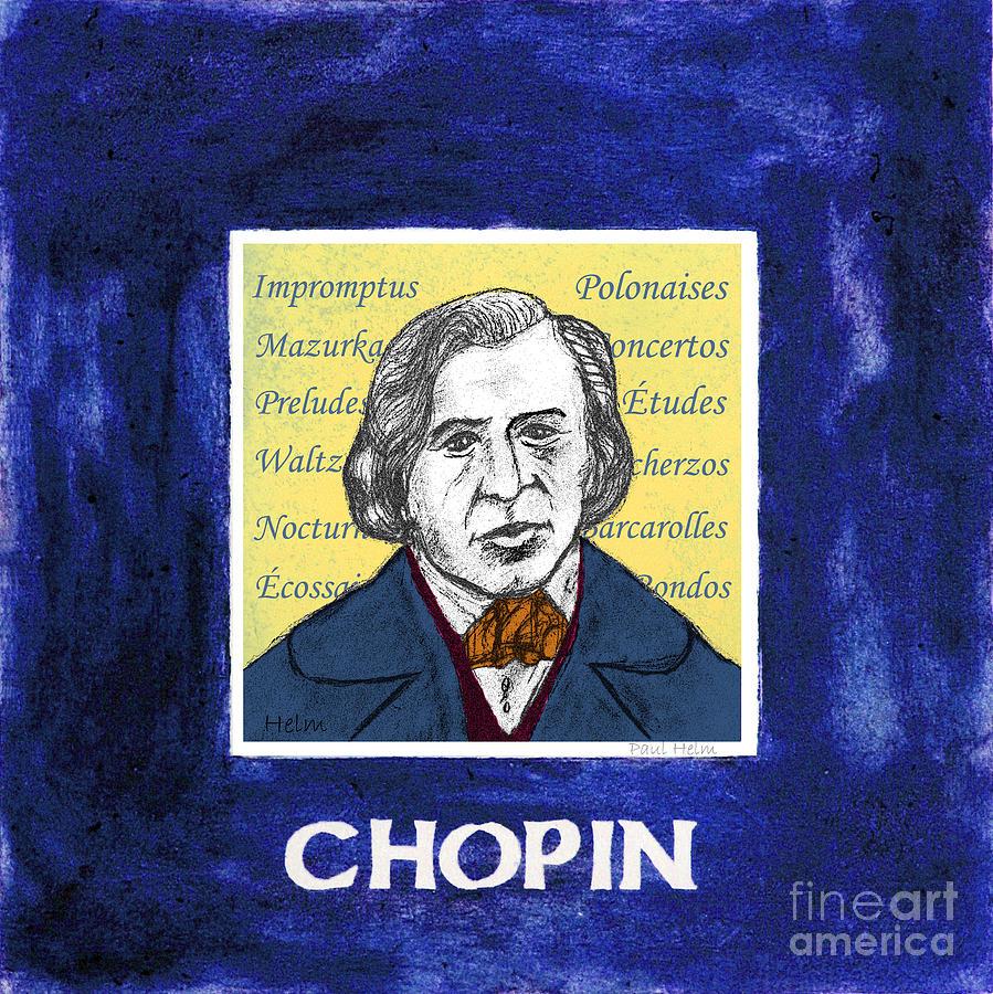 Chopin Drawing - Chopin by Paul Helm
