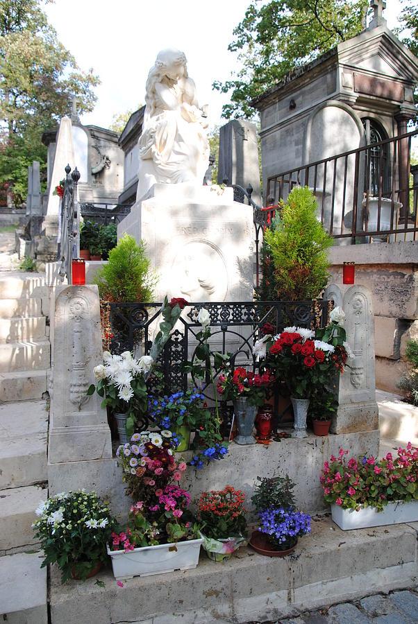 Pere Lachaise Cemetery Photograph - Chopins Gravesite At Pere Lachaise Cemetery by Jacqueline M Lewis