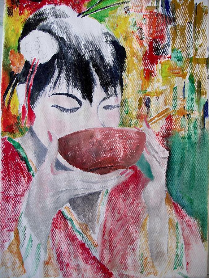 Oriental Painting - Chopsticks by Ken Parkes