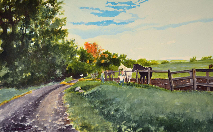 Country Life Painting - Chores by Thomas Stratton