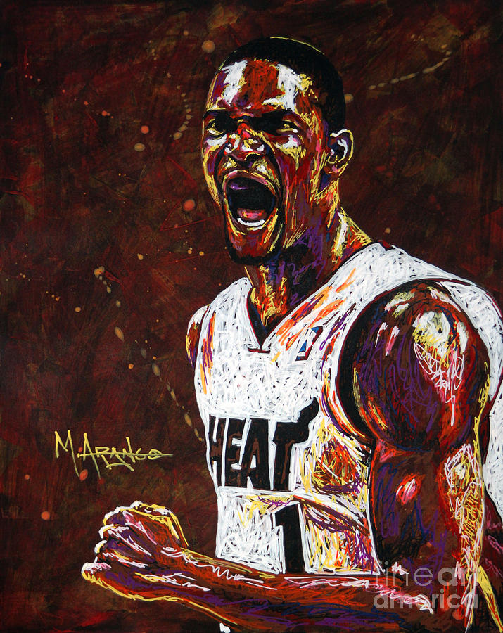 Chris Painting - Chris Bosh by Maria Arango