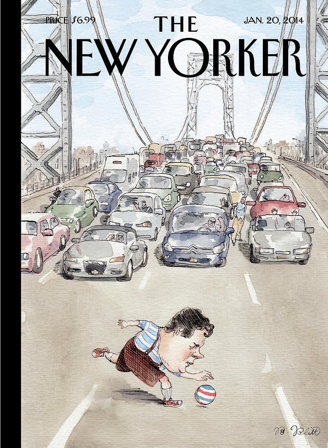 Playing In Traffic Painting by Barry Blitt