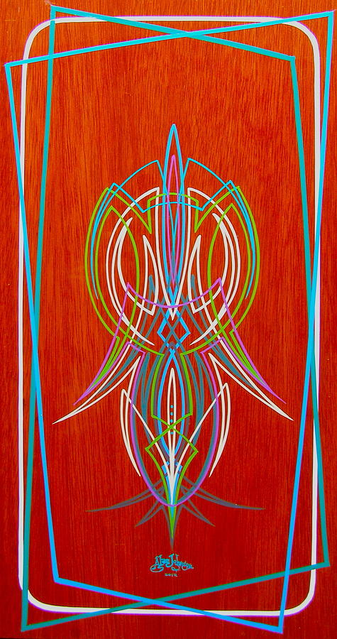 Flames Painting - Chris Craft Options by Alan Johnson