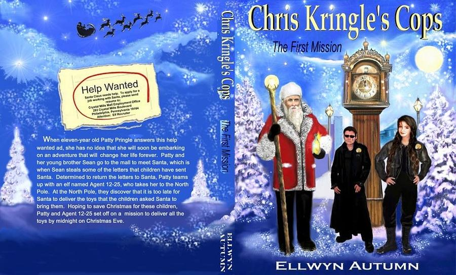 Book Cover Illustration Digital Art - Chris Kringles Cops by Melodye Whitaker