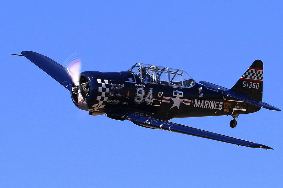 Chris Lefave In His North American Snj-4 Midnight Express At Reno Air Races  Photograph by John King