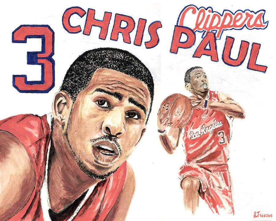 Chris Paul Painting - Chris Paul by Israel Torres