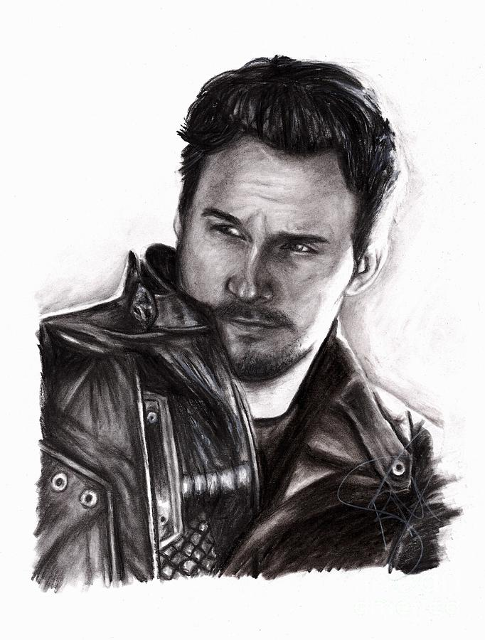 Chris Pratt Drawing - Chris Pratt 2 by Rosalinda Markle