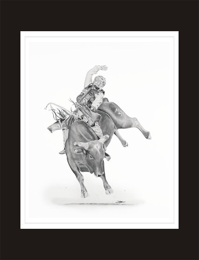 Bull Riding Drawing - Chris Shivers  by Don Medina