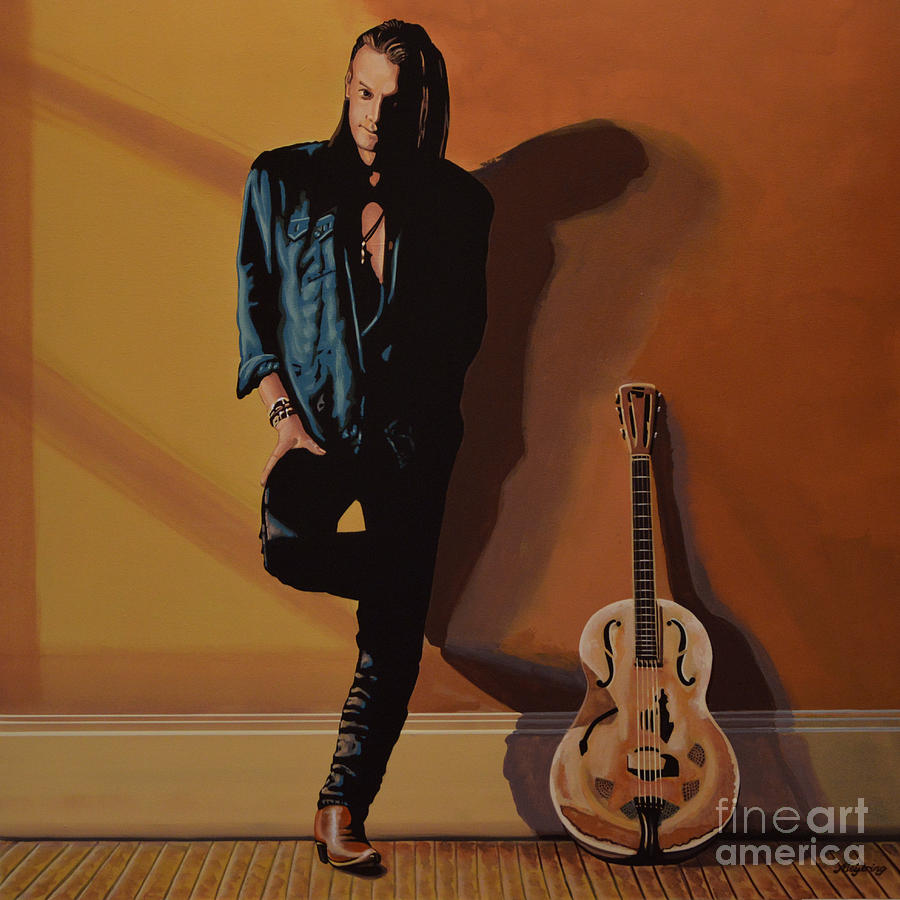 Chris Whitley Painting - Chris Whitley by Paul Meijering