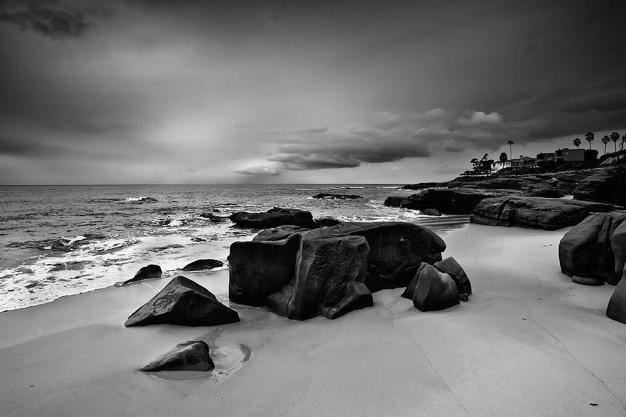 Beach Photograph - Chriss Rock 2013 Black And White by Peter Tellone