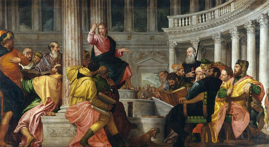 1560 Painting - Christ Among The Doctors In The Temple by Paolo Veronese