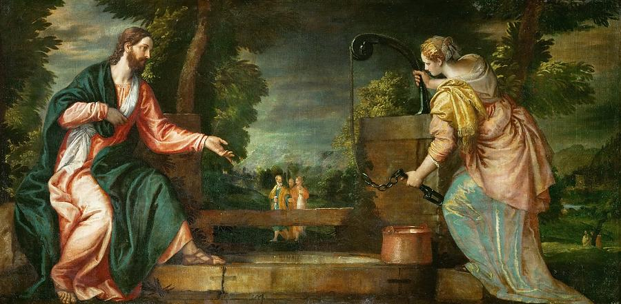 Cinquecento Painting - Christ And The Samaritan Woman At The Well by Paolo Veronese