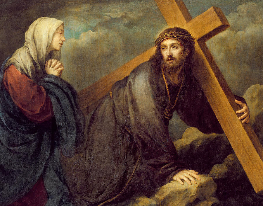 Christ At Calvary Painting by Bartolome Esteban Murillo