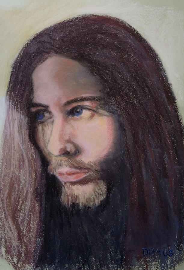 Jesus Painting - Christ by Chrissey Dittus