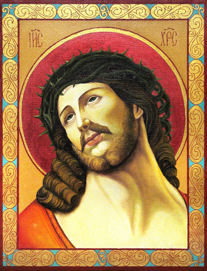 Christ Painting - Christ Crowned With Thorns by Oksana Nabok