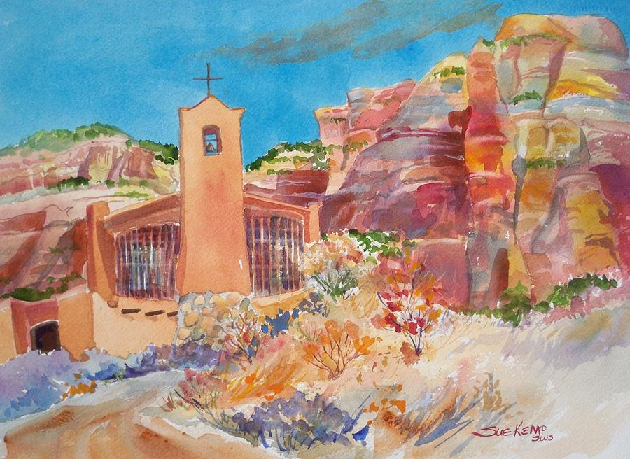 Monastery Painting - Christ In The Desert Monastery by Sue Kemp