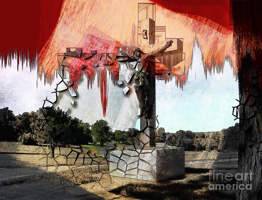 Jesus Photograph - Christ On The Cross by Liane Wright