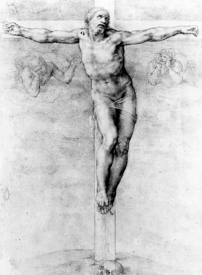 Christ Drawing - Christ On The Cross by Michelangelo Buonarroti