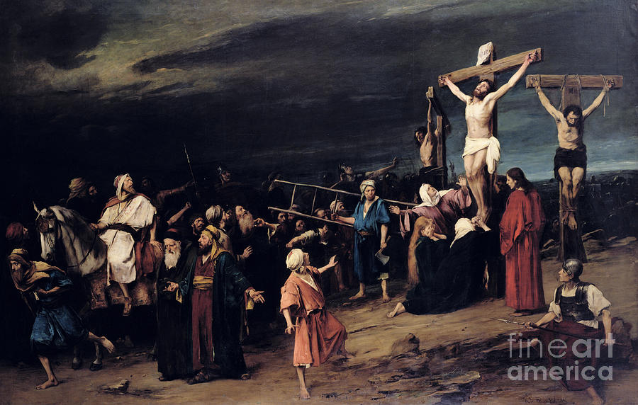 Image result for jesus in the cross painting