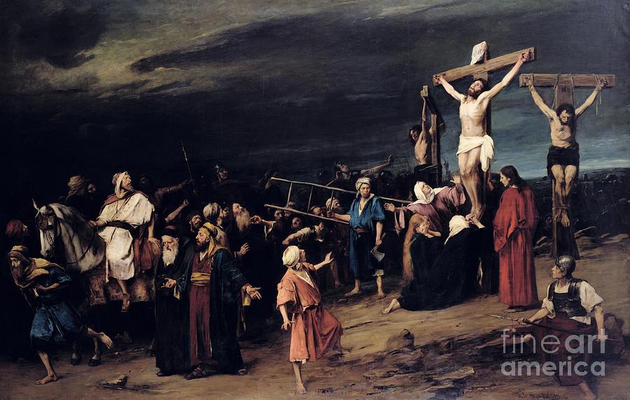 Resultado de imagem para christ on the cross painting