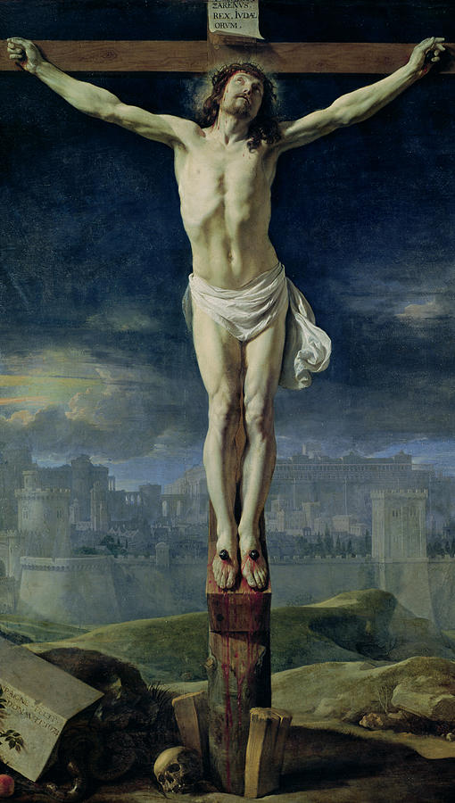 Son Of God Painting - Christ On The Cross by Philippe de Champaigne