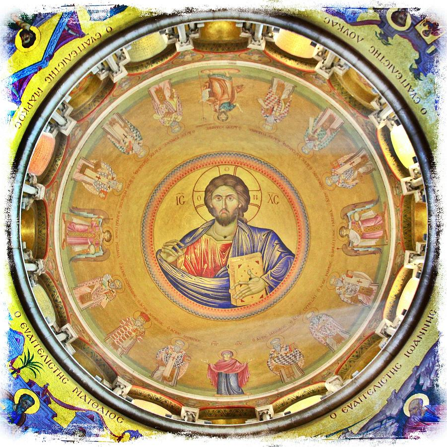 Christ Pantocrator Photograph - Christ Pantocrator -- Church Of The Holy Sepulchre by Stephen Stookey