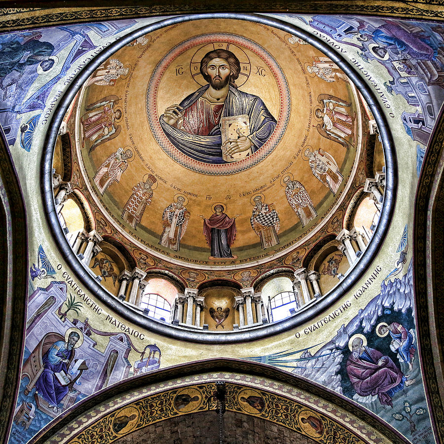 Christ Pantocrator Photograph - Christ Pantocrator -- No.5 by Stephen Stookey