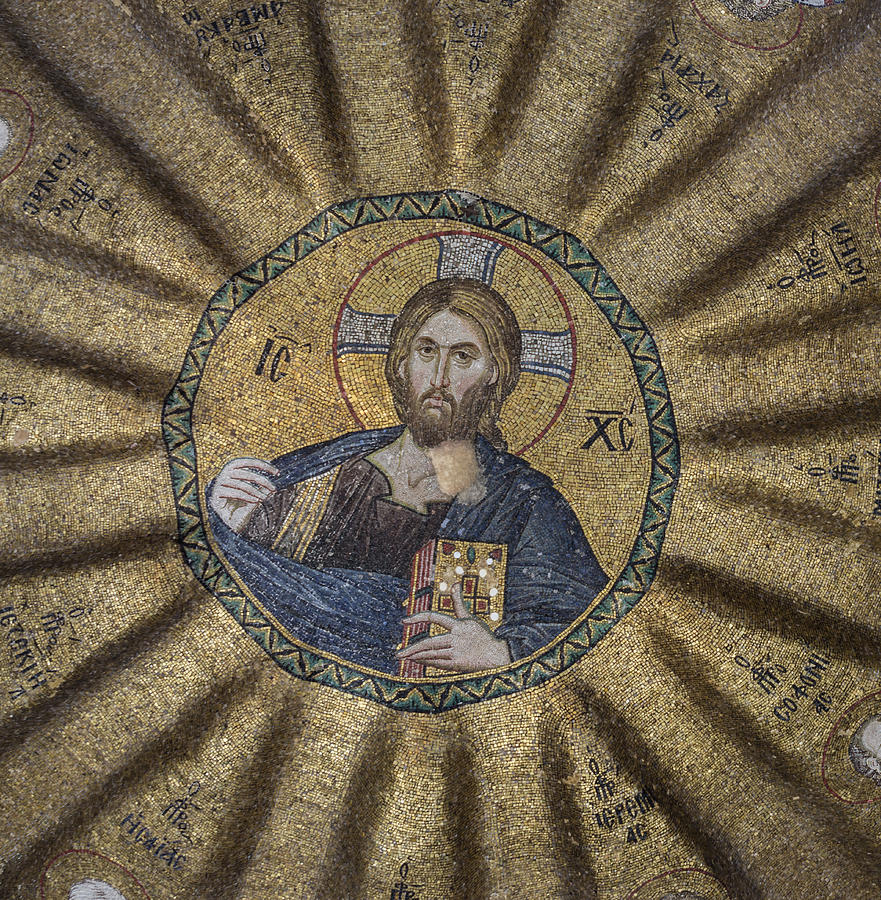 Old Testament Photograph - Christ Pantocrator Surrounded By The Prophets Of The Old Testament 1 by Ayhan Altun