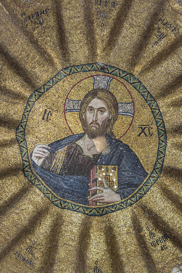 Old Testament Photograph - Christ Pantocrator Surrounded By The Prophets Of The Old Testament 2 by Ayhan Altun
