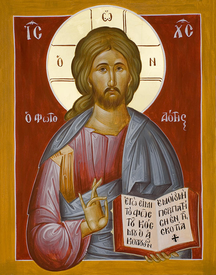 Christ Painting - Christ The Light-giver by Julia Bridget Hayes
