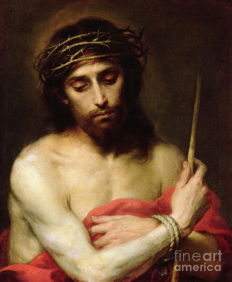 Lord Painting - Christ The Man Of Sorrows by Bartolome Esteban Murillo