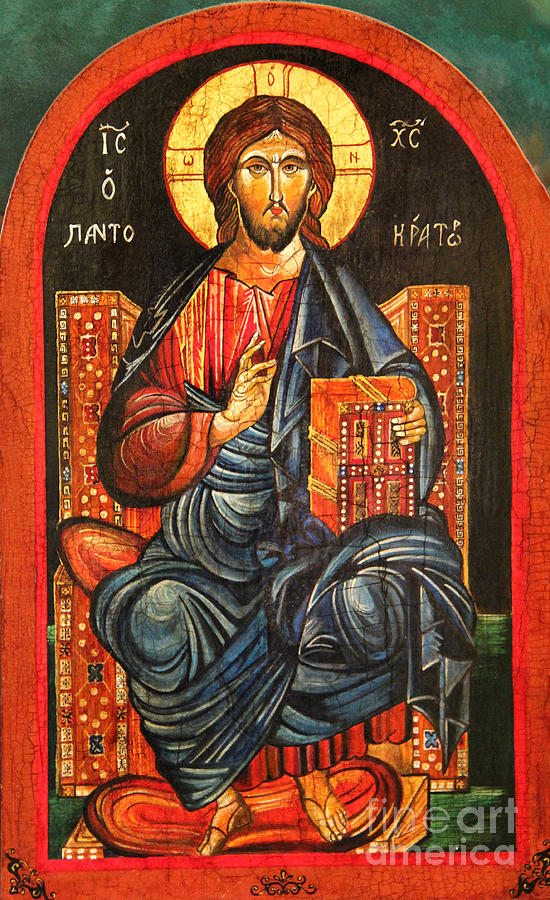 Christ The Pantocrator Icon IIi Painting