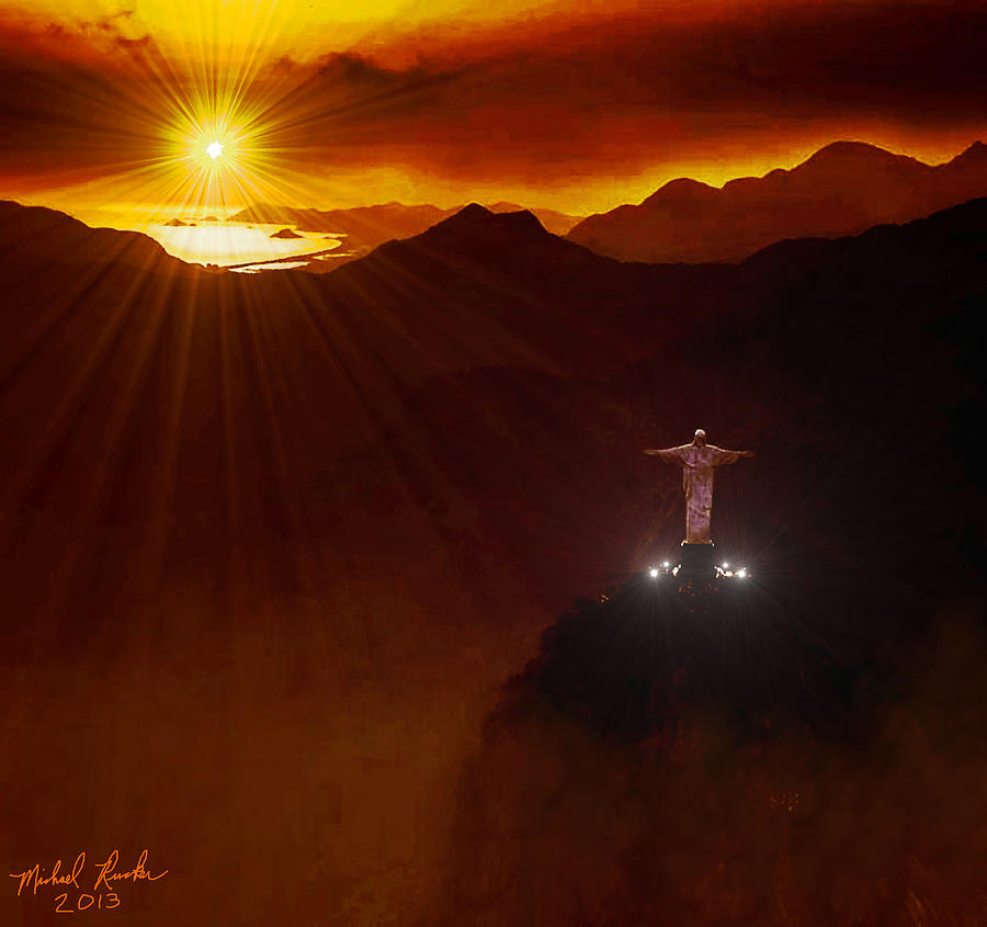 Christ The Redeemer Statue Digital Art - Christ The Redeemer by Michael Rucker