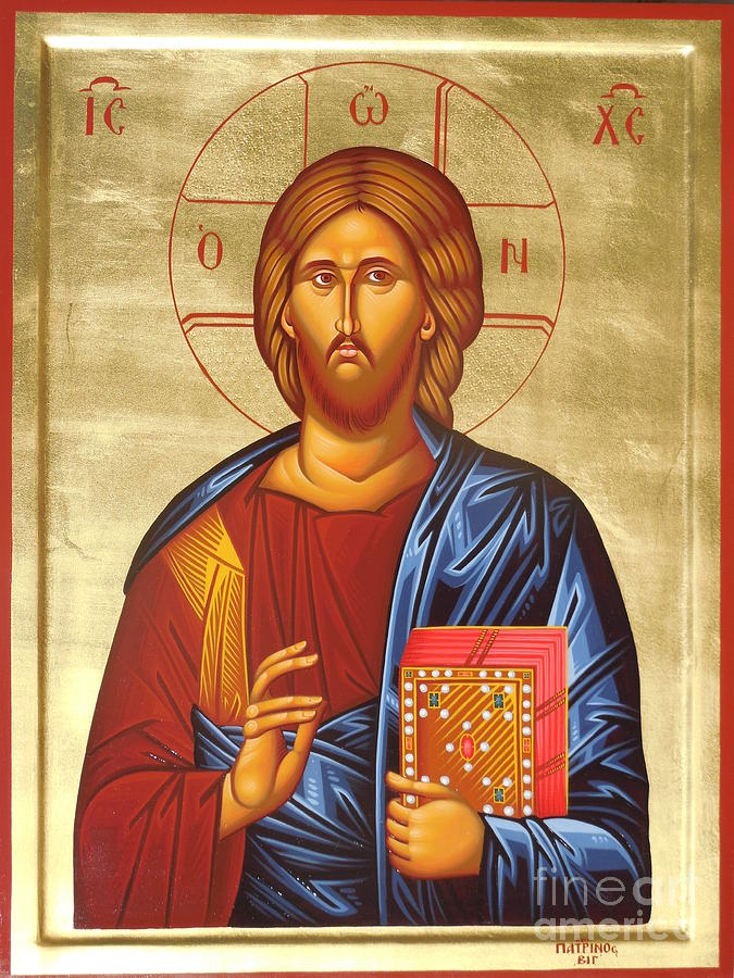 Greek Painting - Christ by Theodoros Patrinos