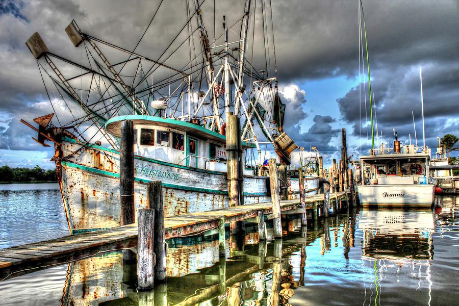 Shrimp Boat Photograph - Christi Lynne At Billys Seafood by Lynn Jordan