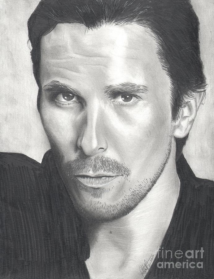 Bale Drawing - Christian Bale by Christian Conner