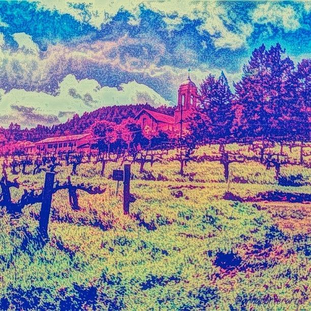 Wine Photograph - Christian Brothers Winery - Napa, Ca by Anna Porter