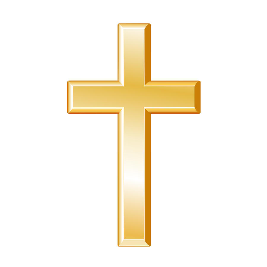 Christian cross digital art by j m designs