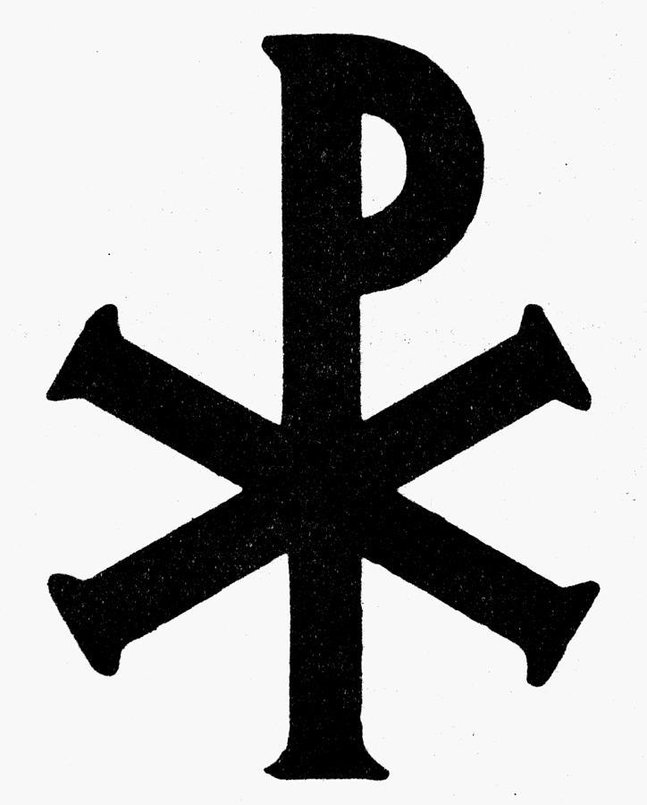 Chi Rho Painting - Christian Monogram by Granger