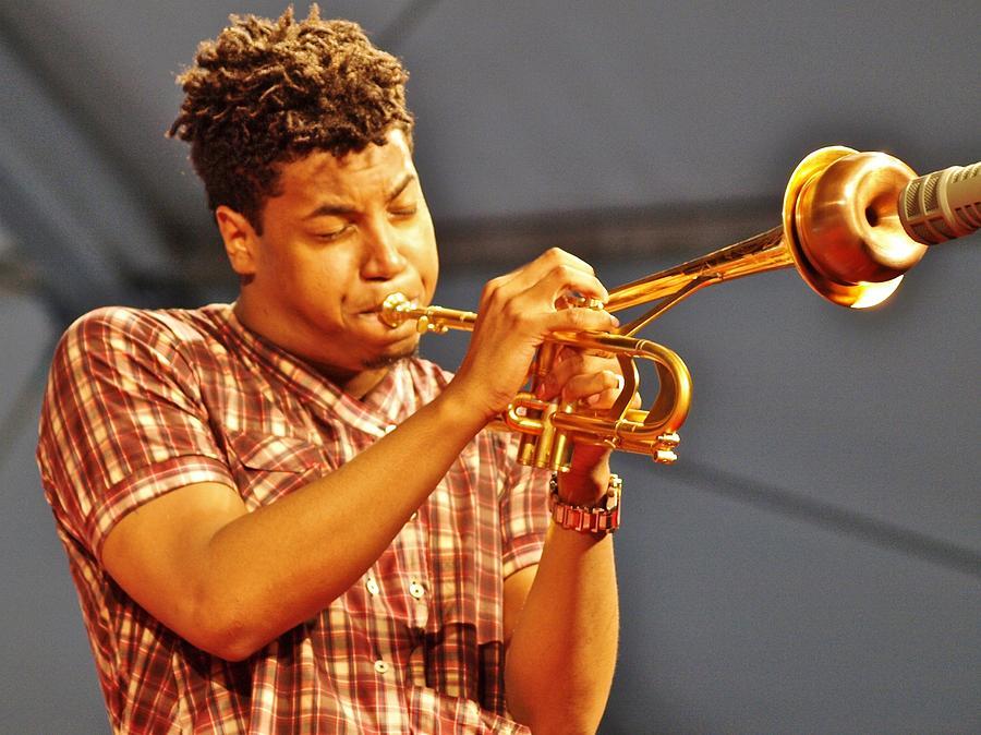 Jazzfest Photograph - Christian Scott by William Morgan