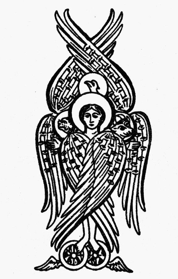 Angel Drawing - Christianity Tetramorph by Granger