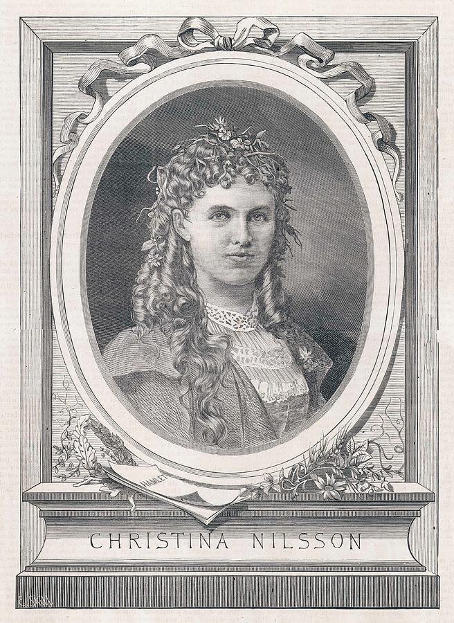 Christine Drawing - Christine Nilsson (1843-1921) Swedish by Mary Evans Picture Library