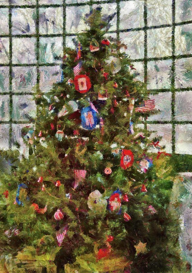 Christmas Photograph - Christmas - An American Christmas by Mike Savad