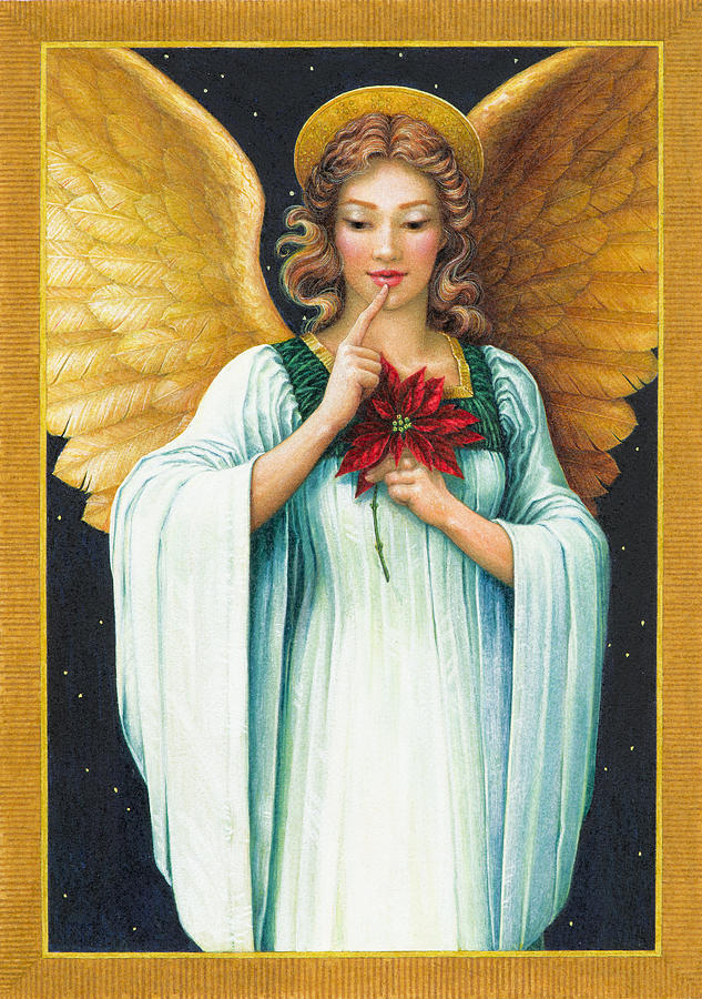 Angel Painting - Christmas Angel by Lynn Bywaters