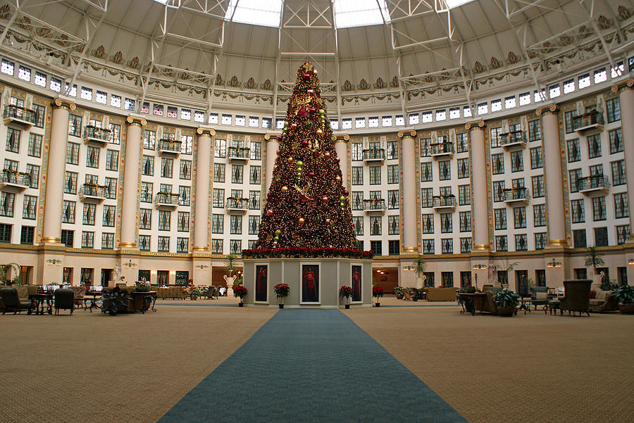 Holiday Photograph - Christmas At West Baden by Sandy Keeton