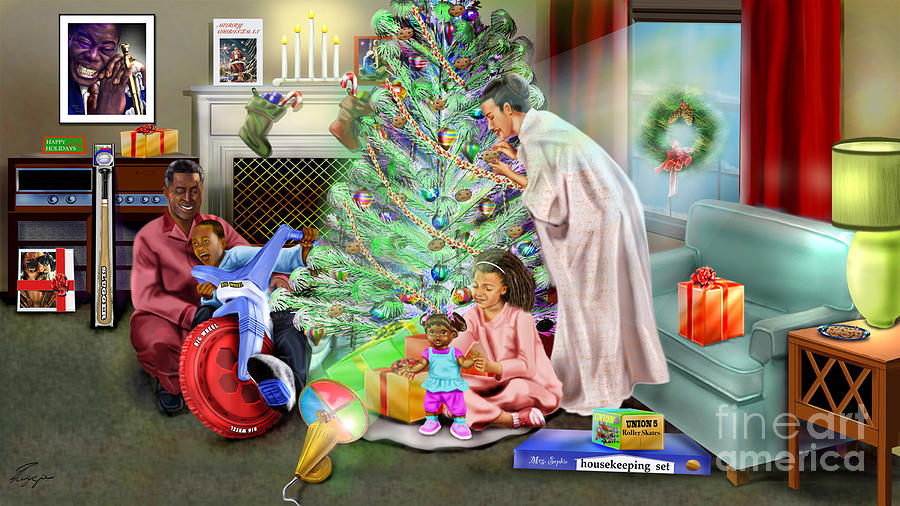 Christmas Painting - Christmas Back In Da Day by Reggie Duffie