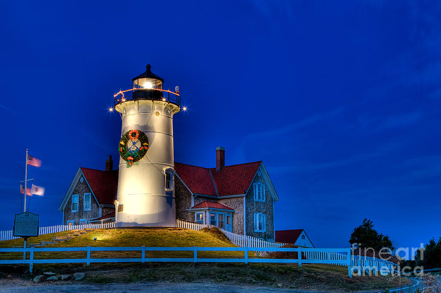 Lighthouse Photograph - Christmas By The Sea by Michael Petrizzo
