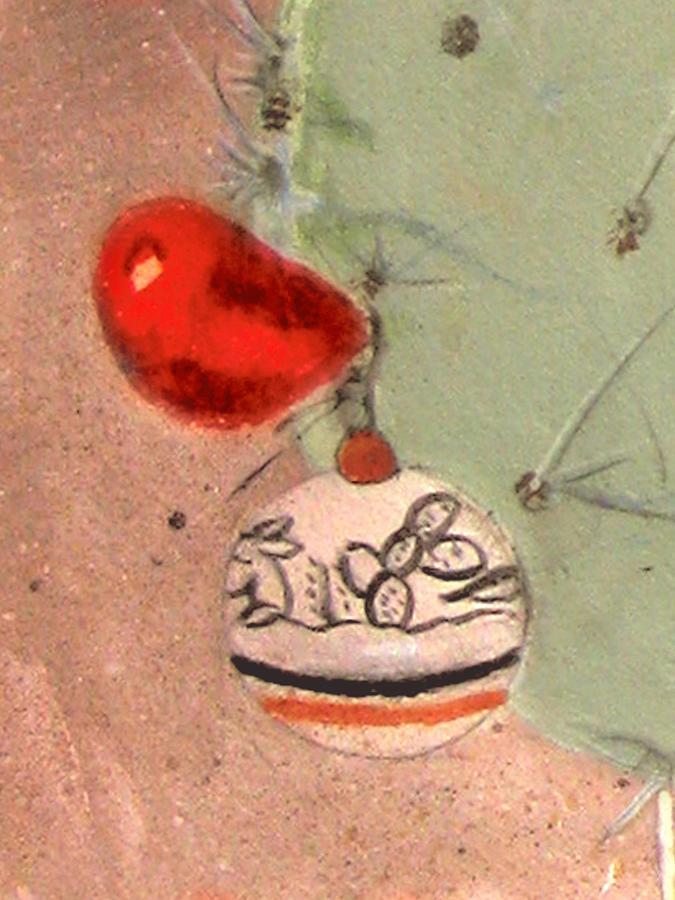 Christmas Cactus Painting by Illusions Maya