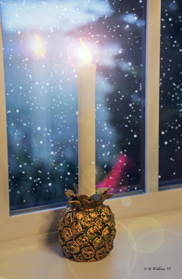 2d Photograph - Christmas Candle by Brian Wallace