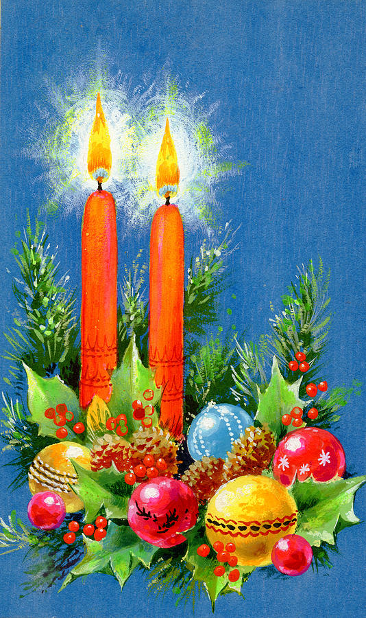 Christmas candles painting by stanley cooke for Candle painting medium